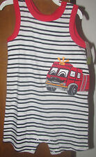 Boys Okie Dokie NWT sleeveless fire truck creeper size 12 months