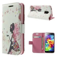 Schutz Tasche Hülle Flip Cover Case f Samsung Galaxy S5 mini LADY FEE STRASS 25B