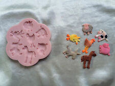 Farm Animals Silicone Mold for Cake Decorating, Fondant, Gum Paste, Chocolate
