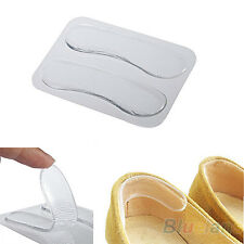 2pcs Gel Heel Cushion Protector Foot Care Antifriction Shoes Insert Pad Insole