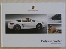 BEAU CATALOGUE LIVRE PORSCHE EXCLUSIVE BOXTER + DE 40 PAGES TEXTE EN ALLEMAND