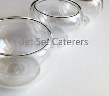 24 Mini Glass Bowls Glasses 1.5 oz. for Appetizer or hot beverages.