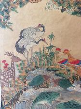 Aquarelle sur papier Japon art asiatique symbolisme animaux mythiques