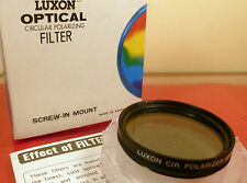 LUXON 49mm CIRCULAR POLARIZING FILTER,  in case. NEW.