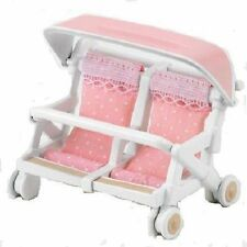 Sylvanian Families Calico Critters Dolls Double Baby Buggy Cart Set Ka-214 Japan