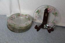 "12 Franciscan DESERT ROSE 8"" Salad / Dessert Plates by Libbey Glass"