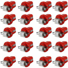 20pcs T5 B8.5D Car Gauge 5050 1SMD LED Speedo Dashboard Dash Side Light Bulb Red