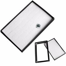 36 Slot Ring Jewelry Show Case Display Storage Box Tray Organiser Earring Holder