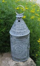 Galvanized LANTERN Taper CANDLE HOLDER*Primitive/French Country Farmhouse Decor