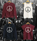 PEACE SIGN VEST, T SHIRT, SWEAT TOP or HOODIE - hype youth wasted high meow