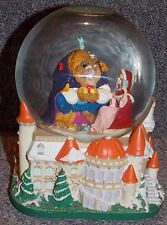 Disney Beauty & The Beast Christmas Large Musical Snowglobe