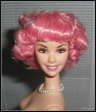 NUDE BARBIE  MATTEL GREASE DOLL PINK CURLY HAIR FRENCHY DOLL  FOR OOAK