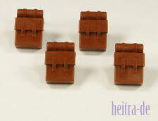 LEGO - 4 x Rucksack braun / Tornister / Reddish Brown Backpack / 2524 NEUWARE