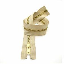 High Quality Metal Brass Teeth Open Ended Zip No 5 ✄ 5 Colours ✄ 40cm - 85cm