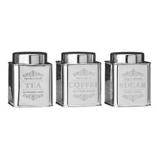 Kitchen Food Storage Chai Tea Coffee And Sugar Canisters Jars Stainless Steel
