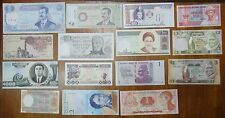 BANKNOTEN LOT - 15 UNCIRCULATED NOTES - NICE SET - COLLECTION START - LOW PRICE!