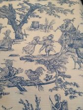 Blue Country French Toile De Jouy Fat Quarters 60cm X 60cm Quilting