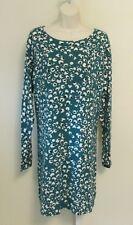 Diane  on Furstenberg Kivel Tiger Eye teal green black leopard dress L 10 12