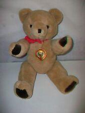 "Vintage 17"" SHANGHAI DOLLS FACTORY Plush Jointed Teddy Bear Toy Animal"