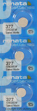 3 pc 377 Renata Watch Batteries SR626SW FREE SHIP 0% MERCURY