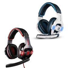 Sades SA903 7.1 Stereo Surround Sound Spiel Kopfhörer USB Musik Headset Mic A0XV