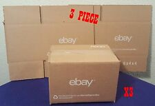 "3 Piece 6"" X 4"" X 4"" EBay Branded Shipping BOX 3 Count"