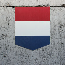 "Netherlands Flag sticker - 2"" x 2.5"" - Dutch Decal Holland Car Emblem Badge"