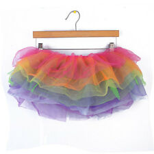 Fancy Color Puffed Burlesque Petticoat Tutu Short Skirts Women Performance Tool