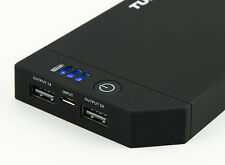New 10000mah USB Charger Power Pack Power Bank 2 USB 2.1A Cell micro phone