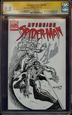 AVENGING SPIDER-MAN 1 CGC 9.8 2X SS SKETCH AL MILGROM SIGNED STAN LEE BLACK CAT