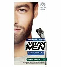 Just For Men Brush In Colour Moustache Beard DARK BROWN BLACK Face Dye Facial