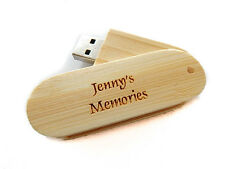 Personalised Wood 8GB USB Memory Stick Drive Wedding Photos Favour Gift Present