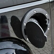 Aluminum ABS Fuel Filler Cover Gas Tank Cap 2/4 Door For 07-15 Jeep Wrangler JK