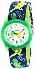 Kids Timex Time Teacher Geckos Elastic Fabric Band Watch T72881