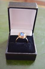 18ct Gold Clad - Australian Opal Ring - Size R