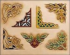 ASSORTED CORNERS CRAFTAID TEMPLATE 76560-00 Tandy Carving Leather Craftaids