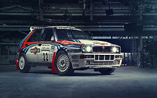 "Lancia Delta HF Integrale Large Canvas Print  30"" x 20"""