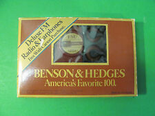 Benson & Hedges Favorite 100 Deluxe FM Radio & Ear Phones Philip Morris 1986