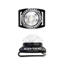 EzyDog Adventure Light Flashing Dog Safety LED Light - WHITE / CLEAR