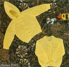 Baby Sweaters Hooded Sweater Knitting Pattern 3 Sizes