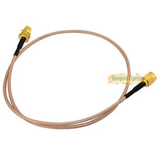 50cm RF Jumper Coax Pigtail Cable RG316 RP-SMA Female with Nut to RP SMA Male