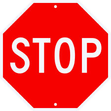 STOP SIGN NEW REFLECITVE METAL - FOR REAL USE - Municipal/DOT Approved 36 x 36