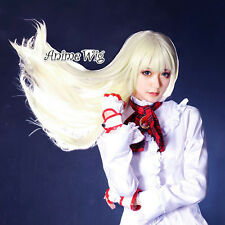 Tekken Lili Rochefort Light Blonde Long 80CM Anime Cosplay Wig + Wig Cap