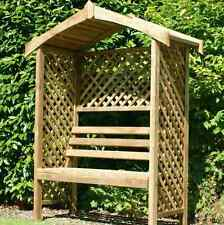NEW 2 Seater Timber Arbour Garden Bench Arch Outdoor Patio Furniture Benches