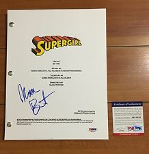 RARE! MELISSA BENOIST SIGNED SUPERGIRL SCRIPT (COVER ONLY) w/EXACT PROOF PSA/DNA