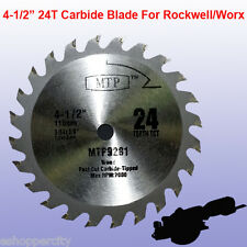 "4-1/2"" inch Carbide Circular Saw Blade for ROCKWELL RK3441K WORX RW9281 TCT Wood"