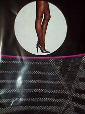 3 PAIRS New Black TIGHTS with CRISS X CROSS Pattern;Small/Med 91% Nylon, New I P