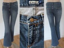 Tom Tompson Jeans Hose Girl 5 Pocket Boot cut Stretch blue denim Gr 36 L32 1A