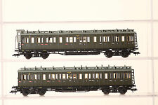 Fleischmann H0 long Compartment coach 5874 and 5873 green 3.Klasse the DRG 49939
