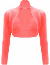 Womens Long Sleeve Plain Shrug Bolero Shrug Top Ladies Cardigan Top 8-26